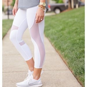 Alo crop mesh leggings